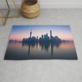 Shanghai Skyline over Huangpu River Rug
