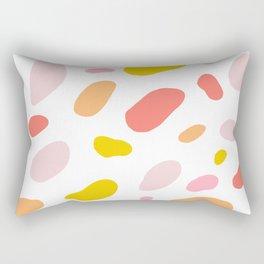 pink giraffe Rectangular Pillow