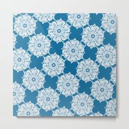 Gorgeous Lace Snow Pattern Metal Print
