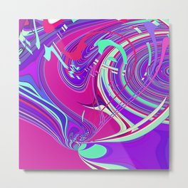 Re-Created  Sour Candy 7 by Robert S. Lee Metal Print