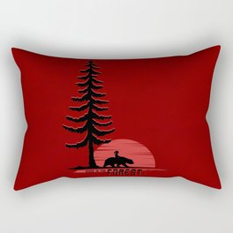 Friends In The Minimal Forest Rectangular Pillow