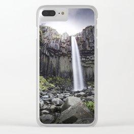 Svartifoss Waterfall Clear iPhone Case