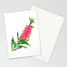 Beautiful Pink Australian Native Floral Illustration Stationery Cards