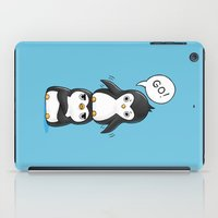 penguins iPad Cases featuring Penguins by Freeminds