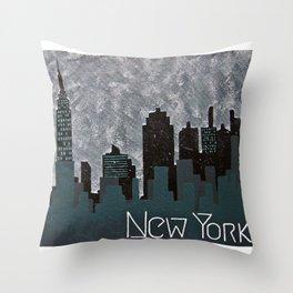 NY Skyline Throw Pillow