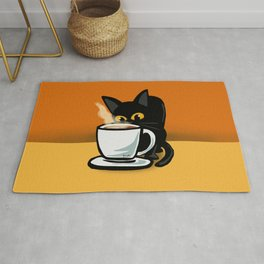 Coffee cat Rug