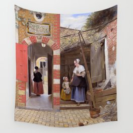 "Pieter de Hooch ""The Courtyard of a House in Delft"" Wall Tapestry"