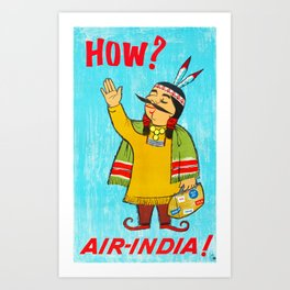 Air India - Vintage Airline Travel Poster Art Print
