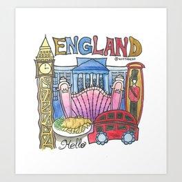 ENGLAND Art Print