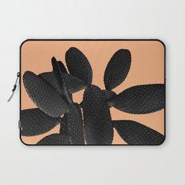 Black Pastel Orange Cacti Vibes #1 #plant #decor #art #society6 Laptop Sleeve
