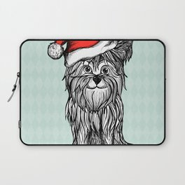 Christmas Dog In Santa Clause Hat Laptop Sleeve