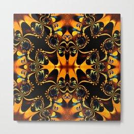 Modern Batik : Geometric Patterns Metal Print