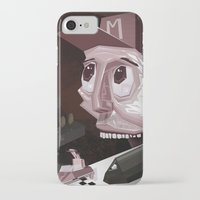 mario kart iPhone & iPod Cases featuring Mario Car by Crooked Octopus
