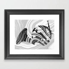 Marbled Music Art - French Horn - Sharon Cummings Framed Art Print