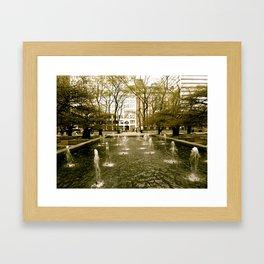 Chicago Fountain  Framed Art Print