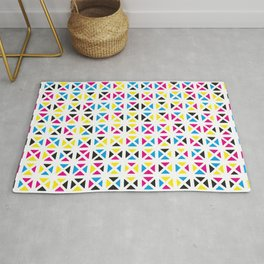 Rounded Triangle Pattern (CMYK) Rug