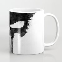 punisher Mugs featuring Punisher Black by d.bjorn