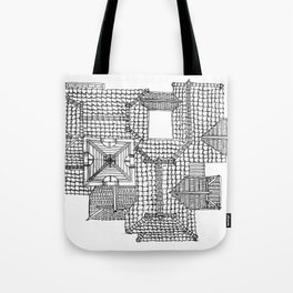 Taiwanese roofscapes 01 Tote Bag