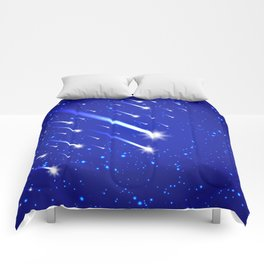 Space background with stars and comets Comforters
