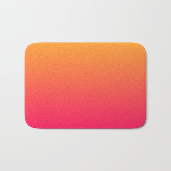 Hot Pink / Golden Heart Gradient Colors Bath Mat
