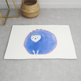 Hedgehog love - blue Rug