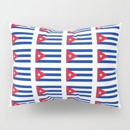 Flag of Cuba 2 -cuban,havana, guevara,che,castro,tropical,central america,spanish,latine Pillow Sham