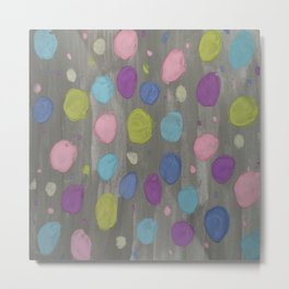 Pastel Bubbles Abstract Metal Print