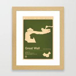 Great Wall, China Framed Art Print