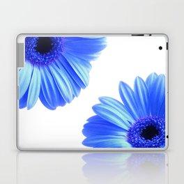 Blue Gerbera Flowers Laptop & iPad Skin