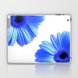 Blue Gerbera Flowers Laptop & iPad Skin