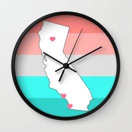Chico, LA & SD Wall Clock