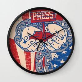 Free Press? Textile. Wall Clock