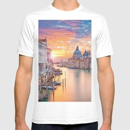 Venice, Italy Grand Canal Sunset landscape painting T-shirt