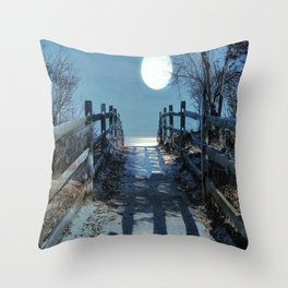 Under The Moonbeams Throw Pillow