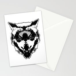 WereWolf Face - n°1 Black & White Stationery Cards