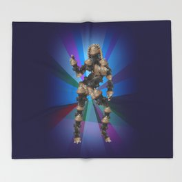 Sexy pump 3. On multicolored background (Predominance of violet) Throw Blanket
