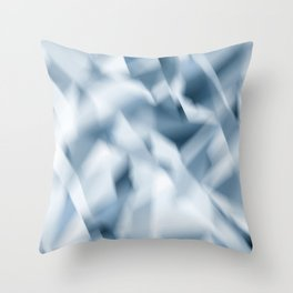 Crushed Satin -Blue Throw Pillow