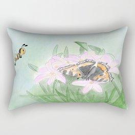 Butterfly bee flower Rectangular Pillow