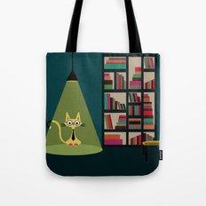 intellectual cat Tote Bag