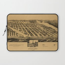 Map Of Asbury Park 1881 Laptop Sleeve