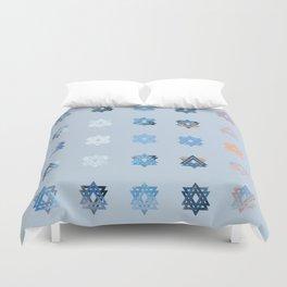 Triniti Snow Crystal (light blue) Duvet Cover