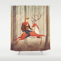 deer Shower Curtains featuring Deer by Seaside Spirit