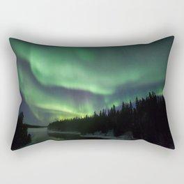 Manitoba aurora Rectangular Pillow
