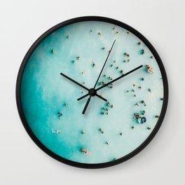 Beach Photography, Aerial Blue Ocean Print, Large Turquoise Ocean Poster, Coastal Wall Art, Beach Wall Clock
