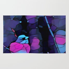 Junco Neon Pink Purple by CheyAnne Sexton Rug