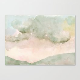 Muted Winter Landscape Canvas Print