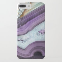 Purple Agate Slice iPhone Case