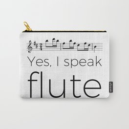 I speak flute Carry-All Pouch