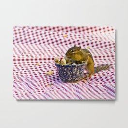 Chipmunk Picnic Metal Print