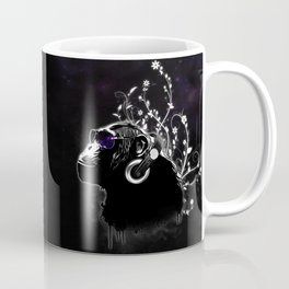 Monkey Tripping - Black Coffee Mug